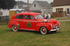 Fire Chiefs Car, early 50's. from a Canadian volunteer FD....