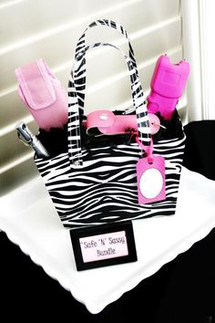 """Our """"Safe & Sassy"""" Bundle! Have everything you need to protect yourself at any time. Features a kubotan weapon for your keychain, a pepper spray for your purse and a stun gun for your car/home!"""