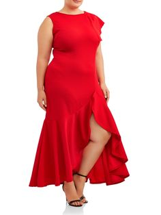 ABS Allen Schwartz Women's Short Sleeve Cowl « Clothing Impulse Great to wear to charity event, Dress Outfits, Prom Dresses, Formal Dresses, Sleeveless Dresses, Bodycon Dress Parties, Party Dress, Red Formal Gown, Side Split Dress, Robes Midi