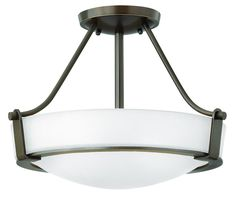Hinkley Lighting 3220 3 Light Semi-Flush Ceiling Fixture from the Hathaway Colle