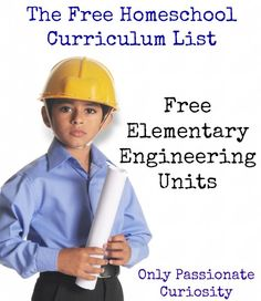 Free Homeschool Curriculum { Free Engineering Curriculum for Elementary Students } - Only Passionate Curiosity
