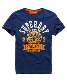 Superdry Real Wildcats T-shirt Superdry Fashion, Superdry Style, Hang Ten, Design T Shirt, Shirt Designs, Superdry Tshirts, Cool T Shirts, Tee Shirts, Men Design