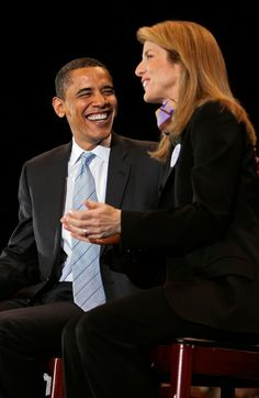 Caroline Kennedy - Barack Obama Campaigns Ahead Of Super Tuesday