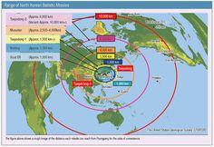 Image result for north korean icbm range map