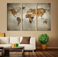 World map canvas art print wonders of the world on world map art large vintage world map canvas print large world map wall art vintage x large gumiabroncs Gallery
