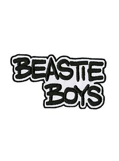 Iron-on patch from Beastie Boys with an embroidered logo design. 3 x 1 Imported Pin And Patches, Iron On Patches, Heavy Metal Fashion, Metal Shirts, Best Rock Bands, Beastie Boys, Band Logos, Concert Posters, Cute Tattoos