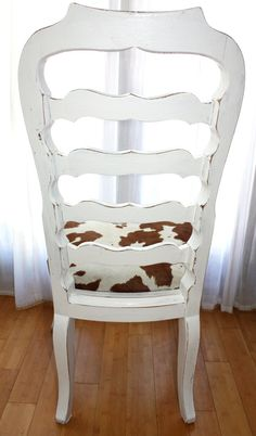 Pretty sure this is what mom wants to do with the dining room chairs except in black and white:)