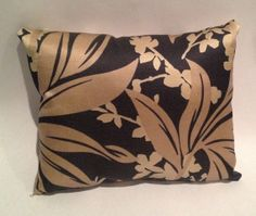 Brown and Black Floral Throw Pillow