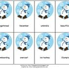 - 24 winter cards with 3 syllable words... Repinned by Speech, Language, Literacy Lab. Visit all our boards at: http://www.pinterest.com/sl3lab/