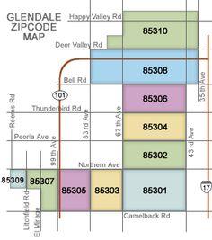 Glendale Az Zip Code Map | Zip Code MAP