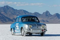 Nicolas Prost, Renault Dauphine for the Bonneville speed record! Rally Car, Concept Art, Classic Cars, Wheels, Nice, Sweet, Autos, Cars, Conceptual Art