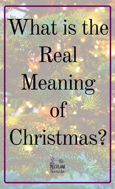 """A lot of people """"know"""" that Christmas is about Jesus- a little baby who was called the son of God, and born in a stable. Great. But many people don't go past that.  The thing is though, it's when you go past the basics that you truly begin to understand the meaning of Christmas."""