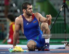 Azerbaijan's Jabrayil Hasanov seen after winning the men's freestyle wrestling -74kg Bronze medal match against Uzbekistan's Bekzod Abdurakhmonov at Carioca Arena 2 at the 2016 Summer Olympic Games. Stanislav Krasilnikov/TASS