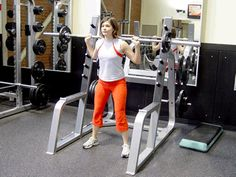 Squats with Barbell Exercise Demonstration