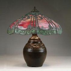 Handel pine tree overlay lamp