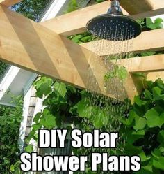 10 DIY Solar Heated Outdoor Shower Ideas - This site has a loooong list of DIY solar projects - GREAT for the desert! Diy Solar, Up House, Cozy House, Outdoor Spaces, Outdoor Living, Outdoor Decor, Luz Natural, Solaire Diy, Solar Shower
