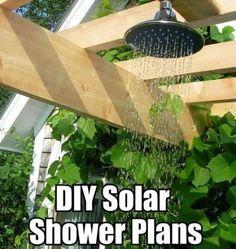 10 DIY Solar Heated Outdoor Shower Ideas