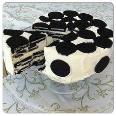 Torta helada de Oreo® y Chocolate Blanco / Oreo´s® and White Chocolate Cold Cake
