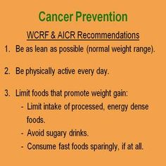 Tips to Prevent Cancer and Illness