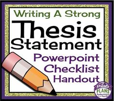 What does a good thesis look like, or more importantly, what is a thesis?