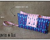 """""""Quivers in Blue"""" Nappy Clutch A$28.00 plus postage  (Nappy Clutch / Diaper Clutch / Nappy Wallet / Diaper Wallet)"""
