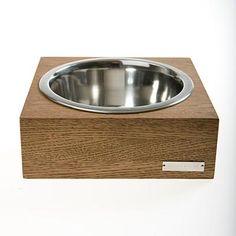 Single Wooden Dog Bowl