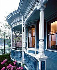 Victorian Homes Magazine Photos | typical of victorian houses at their peak this porch is supported by ...
