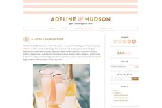 Blogger Template Premade Blog Theme Design by 17thAvenueDesigns