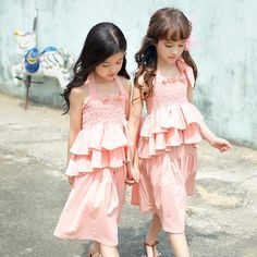 Find More Clothing Sets Information about New Kids Girls Summer Ruffles Outfits Ruffle Halter Tees and Shorts 2pcs Sets Pink and Green Color Casual Summer Clothing,High Quality girl newborn clothing,China girls summer clothing Suppliers, Cheap girl pump from Everweekend Kids Clothing Co.,Ltd on Aliexpress.com