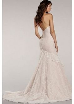 Affordable Price of Trumpet/Mermaid Strapless Court Train Lace Fabric Lace Wedding Dresses UK with Lace Style l150505 UK Online Shopping