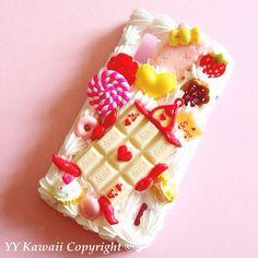 Alice in Wonderland inspired Kawaii Decoden Phone case by YYKawaii, $15.00