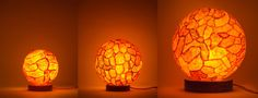 Lucie lamps are brilliant lights made out of orange peels