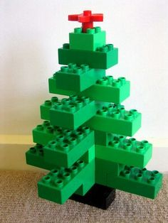 Lego Duplo blocks make a great gift for children 1 to 5 years old. Lego Duplo helps keep your preschooler busy, while using imagination & creativity to build. Lego Duplo, Lego Christmas Tree, Kids Christmas, Christmas Design, Xmas Tree, Lego Activities, Christmas Activities, Lego Ornaments, Lego Challenge