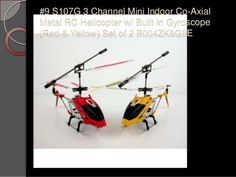 #9 S107G 3 Channel Mini Indoor Co-Axial Metal RC Helicopter w/ Built in Gyroscope (Red & Yellow) Set of 2 B004ZK8G8E