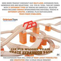 $60 - 110 PCs Orbrium Toys Multi-Level Wooden Train Track Expansion Pack with Stackable Track Riser Stabilizers Generic Fits Thomas Brio Chuggington Set Orbrium Toys http://www.amazon.com/dp/B0095ZFXBM/ref=cm_sw_r_pi_dp_328hub1AMRKEH