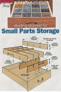 Drawers Small Parts Storage System - Workshop Solutions Plans, Tips and Tricks | WoodArchivist.com