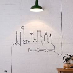 *lighting cord into art 28 DIYs You Need for Your First Apartment via Brit + Co.