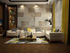 Arredare con il giallo living di design 12