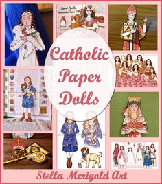 Check out these beautiful Catholic paper dolls! You won't believe how detailed they are, and they're really affordable, too! Available in book for or as a printable.