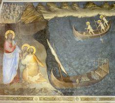 Giusto de Menabuoi, la vocation de Simon-Pierre et d'André, 1376-78, Fresque du baptistère de la cathédrale de Padoue