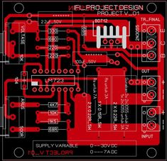 LM 723 _Variable voltage & current Electronics Basics, Electronics Components, Electronics Projects, Electronics Gadgets, Diy Amplifier, Class D Amplifier, Circuit Board Design, Electronic Schematics, Voltage Regulator