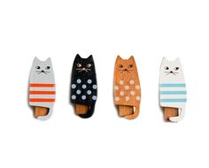 The Chalkboard - Get It Together: Wooden Cat Clips