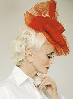 Carmen Dell'Orefice.  Photo by Erik Madigan Heck, style by Cora Thomas  for Nomenus Quarterly, 2011