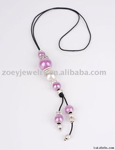 Pandora Style Leather Necklace