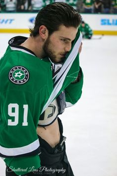 I swear that he does this on purpose. I'm not complaining though! Good luck to him over the All-Star break! Hockey Girls, Hockey Mom, Ice Hockey, Hockey Rules, Hot Hockey Players, Nhl Players, Hockey Boards, Stars Hockey, Hockey Players