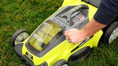 Check out the RYOBI 40V Lawn Mower! This cool tool works off the same battery as all of our other 40V tools!