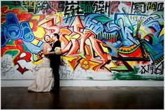 graffti wedding photo shoot