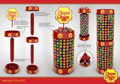 Designs developed for Perfetti Van Melle owners of the Chupa Chups brand.