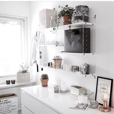 """""""A walk-in-closet to die for with String Plex as the centerpiece Photo @bluemindboy #stringhylla #stringshelf #stringshelves…"""