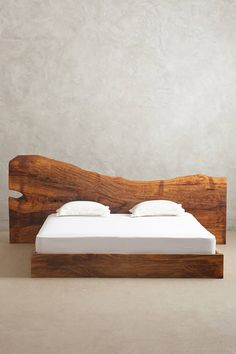 Amazing solid wood bed head // from a slice of tree trunk! #product_design…